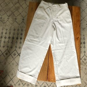White Zara ankle pants